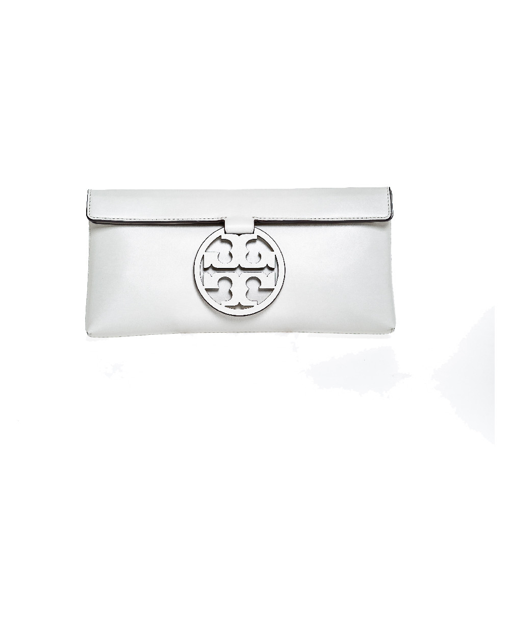"Small cream colored pouch Tory Burch ""Miller Clutch"" for women"
