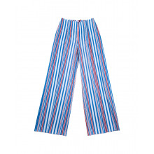 Loose fit blue/red/white striped trousers Stella Jean for women