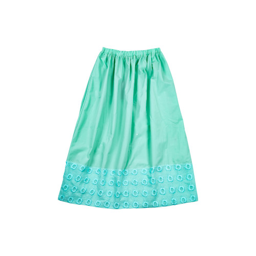 Long aqua colored skirt...