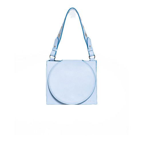 Achat Leather bag with round flap... - Jacques-loup