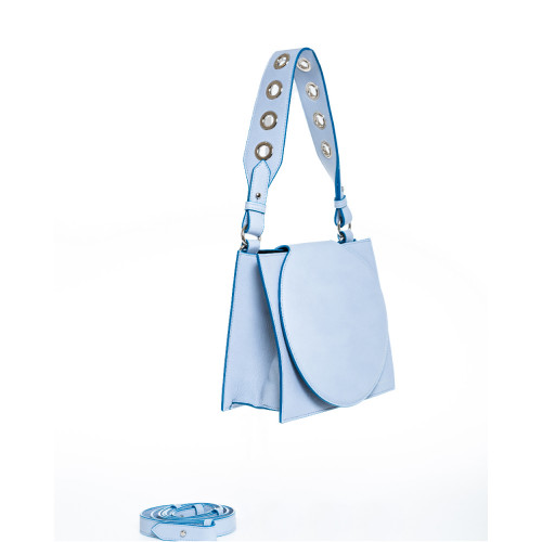Rigid light blue bag Elena...