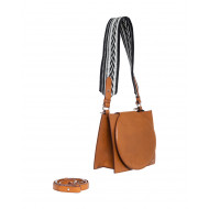 Rigid cognac colored bag...