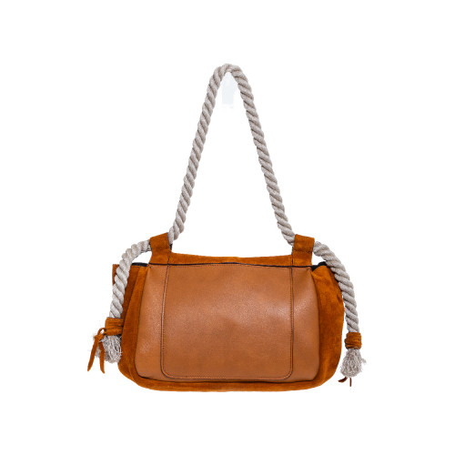 Soft cognac colored bag...