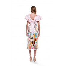 "White skirt with colorful prints ""Venus"" Marni for women"