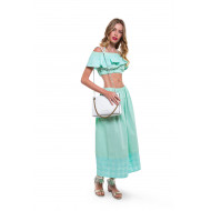 Long aqua colored skirt Fendi for women