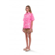Shirt Marni with large pink flowers for women