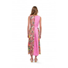 Sleeveless multicolor dress Marni with different prints for women