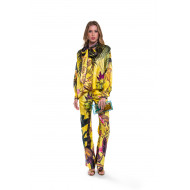 Ensemble Chemise et pantalon For Restless Sleepers jaune et multicolor