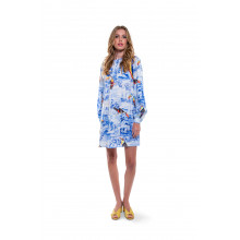 Short blue dress Stella Jean for women