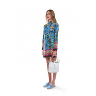 Robe For Restless Sleepers bleu et multicolor