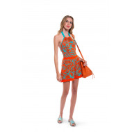 Orange and turquoise playsuit Fendi for women