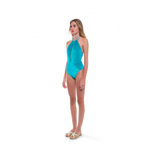 Turquoise swimsuit Fendi for women