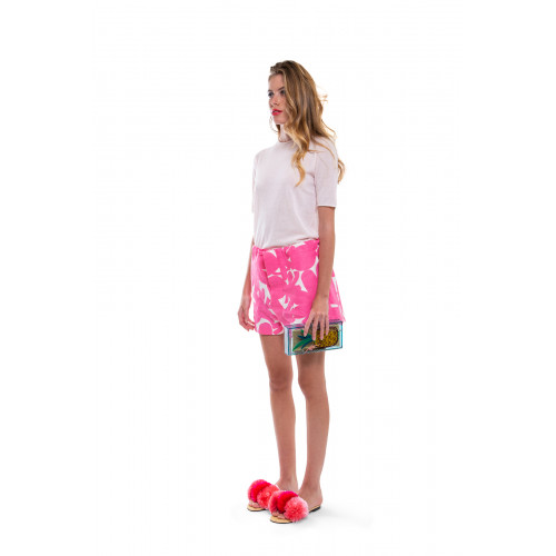 Achat Clutch bag Charlotte Olympia Cocktail Ananas green with multicolor print for women - Jacques-loup