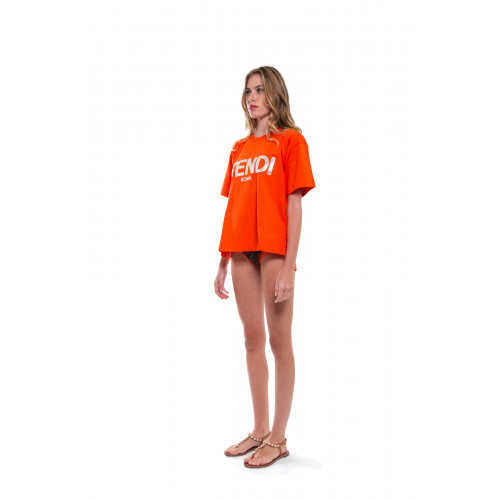 Orange T-shirt Fendi Roma for women