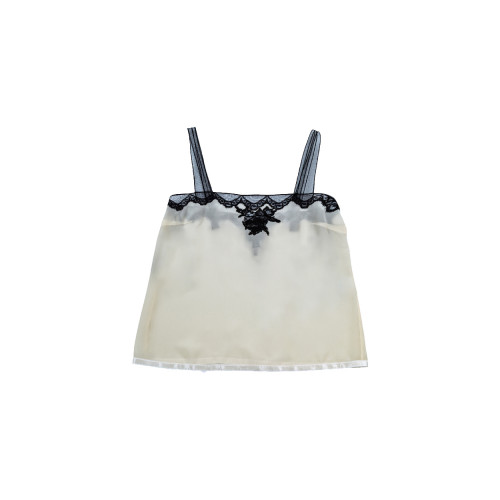 Achat Silk strap top with lace - Jacques-loup