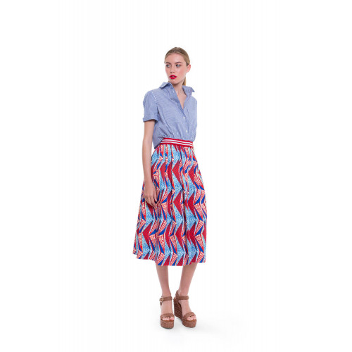 Blue and red skirt dress...