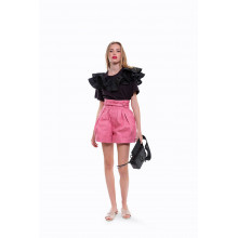 Short Marc Jacobs taille haute rose