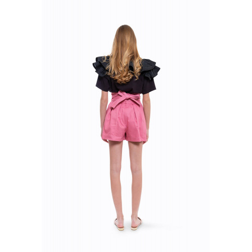 Achat Cotton shorts with high... - Jacques-loup