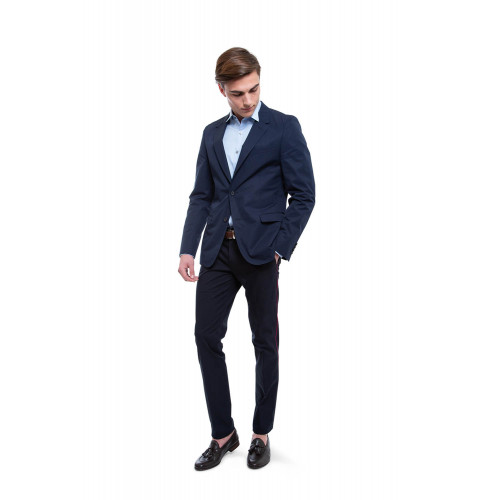 Achat Jacket Lanvin navy blue for men - Jacques-loup