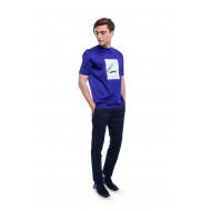 T-shirt Lanvin blue ink color with head of shark print for men