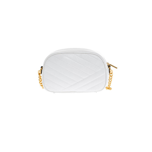 Cream colored quilted bag...