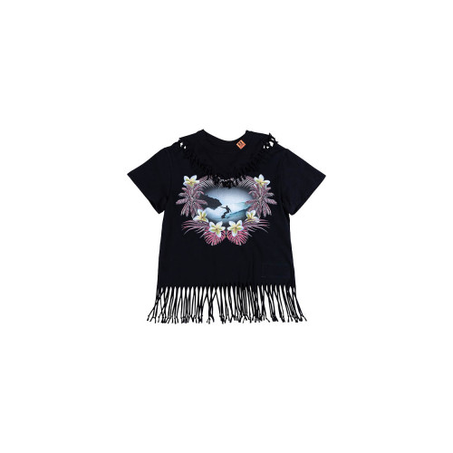 Achat Cotton T-shirt with fringes... - Jacques-loup