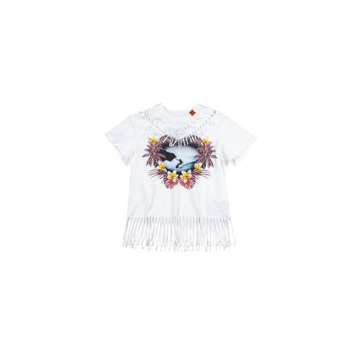 Achat White T-shirt with fringes SS - Jacques-loup