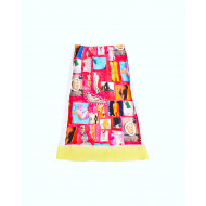 "Dark pink skirt with colorful prints ""Venus"" Marni for women"