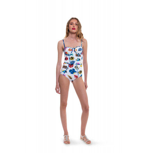 One piece swimsuit with...