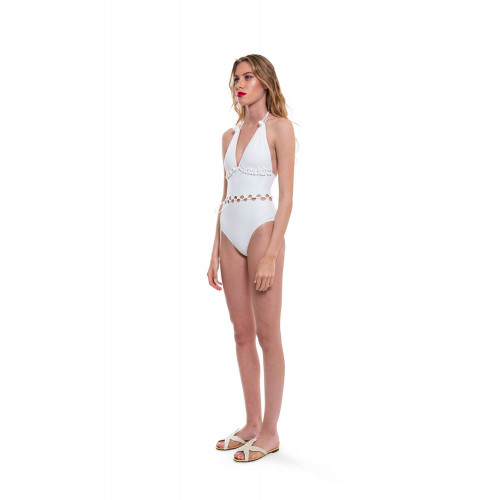 Swimsuit with V neckline...