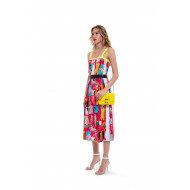 Robe Marni rose et multicolor
