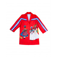 Red long jacket Stella Jean...