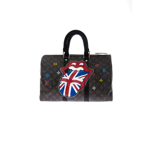Bag Philip Karto - Rolling Stones - 40 cm - Customized Louis Vuitton bag for women
