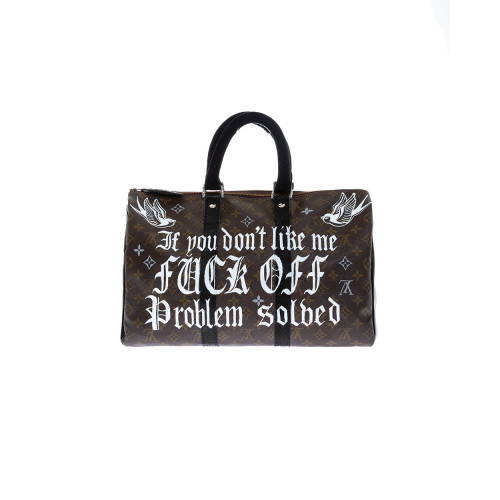 Bag Philip Karto - Mickey Fuck - 40 cm - Customized Louis Vuitton bag for women