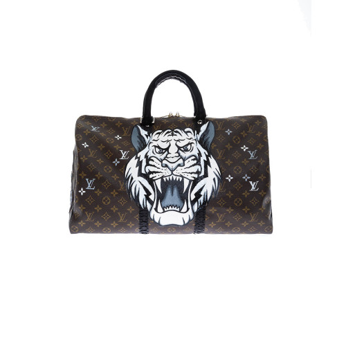 Bag Philip Karto - Tiger - 50 cm - Customized Louis Vuitton bag for women