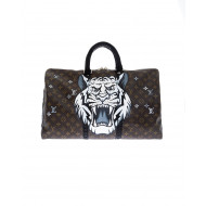 Bag Philip Karto - Tiger - 35 cm - Customized Louis Vuitton bag for women