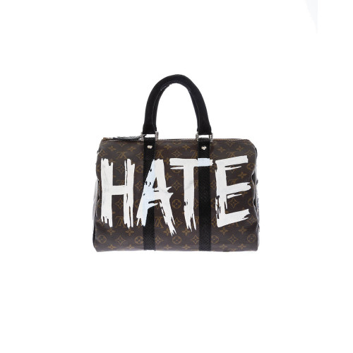 Bag Philip Karto - Love/Hate - 35 cm - Customized Louis Vuitton bag for women