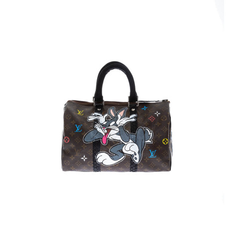 Bag Philip Karto - Bugs Bunny - 35 cm - Customized Louis Vuitton bag for women