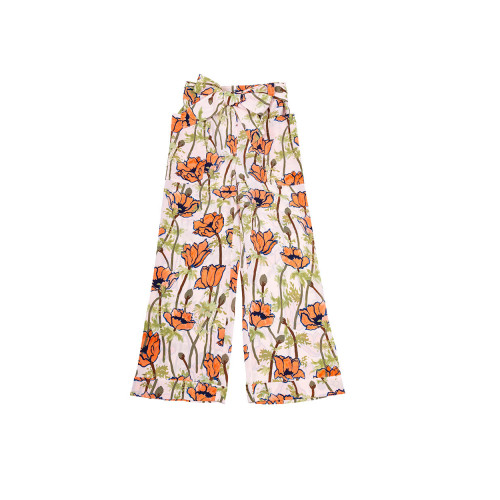 Multicolored trousers with floral print Tory Burch for women