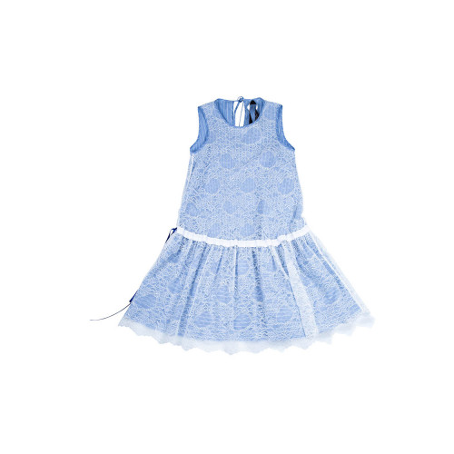 White and blue dress Ley Lu...