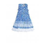 White and blue dress with...