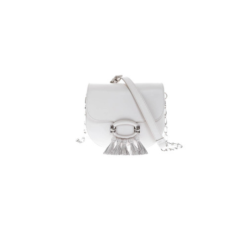 "Sac Tod's ""T-Ring"" pompons blanc pour femme"