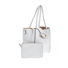 "Sac Tod's ""T-ring Shopping"" blanc pour femme"
