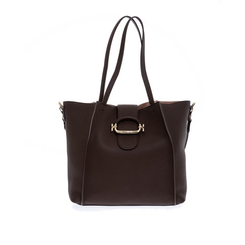 Achat Sac Tod's T-Ring Shopping marron pour femme - Jacques-loup