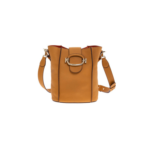 Camel colored bucket bag...