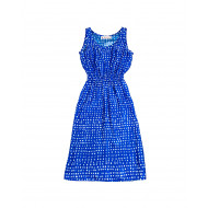 Achat Blue dress with white print... - Jacques-loup