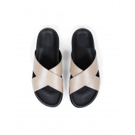 Achat Natural leather mules with... - Jacques-loup
