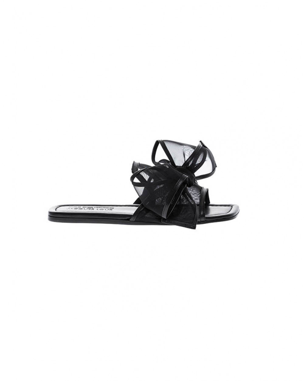 Black mules Jacques Loup with large knot for women