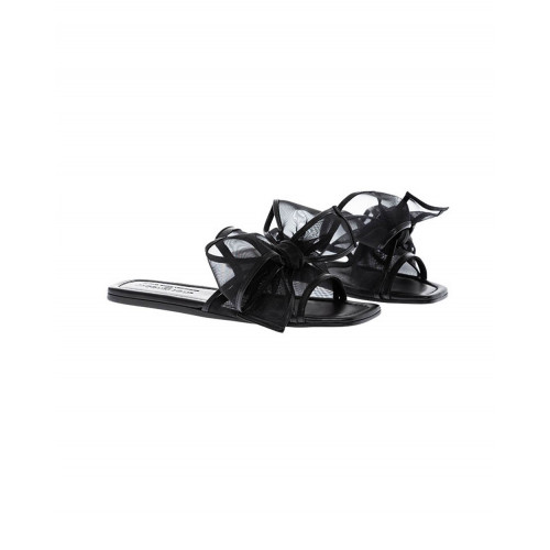 Achat Black mules Jacques Loup with large knot for women - Jacques-loup
