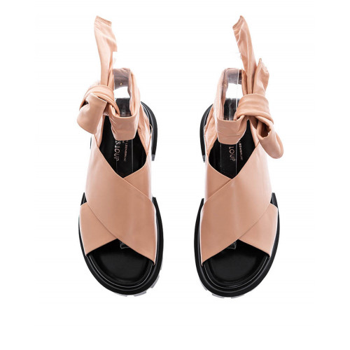 Skin colored sandals Jacque Loup for women
